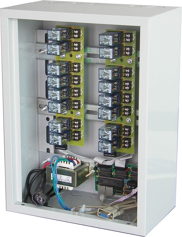 主要技术指标 可控通道数:     16路 开关方式:      继电器 最大负载功率:    1500W/通道 控制器供电电压:   220V 控制器消耗功率:   35W 开关寿命:      10万次 信号控制接口:    RS232(串口) 控制柜最大可叠加数: 250个 外形尺寸 宽X高X深:  30cmX40cmX20cm 相关技术资料